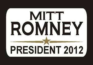 Mitt Romney President 2012 Decal Sticker 2.5x4 #1