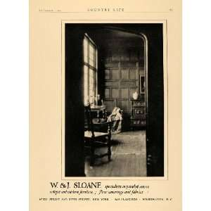 1924 Ad W J Sloane Paneled Rooms Furniture Floor Fabric