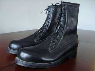 Vintage Mens 1986 USAF Flight Pilot Flying Combat Black Leather Boots