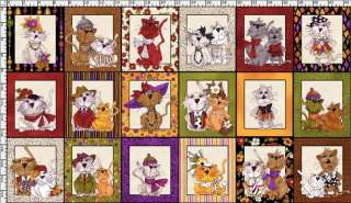 Loralie Designs SPICE CATS PANEL 21840J Fabric Quilting Treasures
