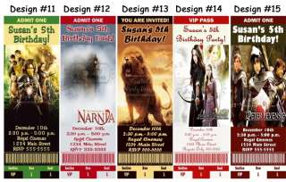 Narnia The Lion Witch Wardrobe Birthday Party Ticket Invitations