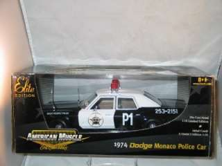 ERTL AMERICAN MUSCLE ELITE EDITION 1974 DODGE MONACO POLICE CAR 118