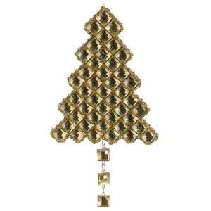 Jewel Christmas Tree Ornament Gold (Pack of 24)