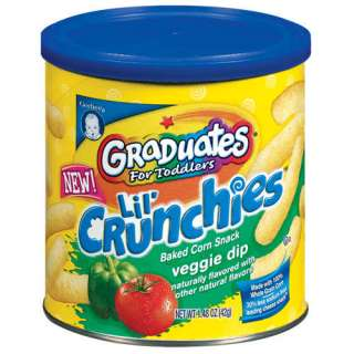 Gerber Graduates Lil Crunchies Veggie Dip Baked Corn