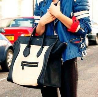 Gossip Girl Faux Leather Luggage Tote Smile Bag Handbag