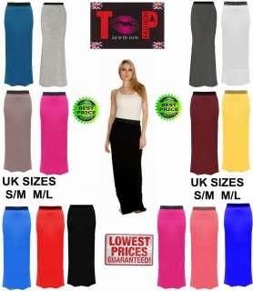 Womens Gypsy Long Jersey Maxi Skirt Dress Ladies gypsy Skirt (8 14