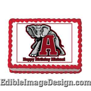 University of Alabama Crimson Tide Edible Party Cake Image Cupcake