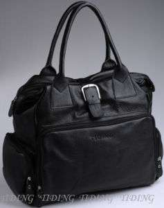Womens Black Tote Shoulder Duffle Gym Bags Hobo Diaper