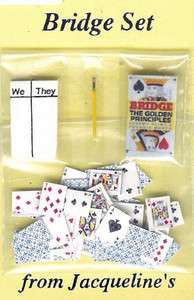DOLLHOUSE MINIATURE DECK OF PLAYING CARDS GAME BRIDGE