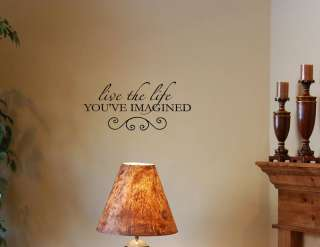 LIVE THE LIFE YOU Vinyl wall lettering sayings words decals art