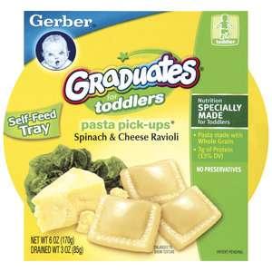Gerber Graduates Pasta Pick Ups Spinach & Cheese Ravioli