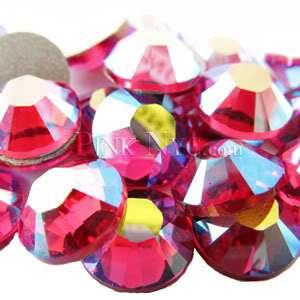 SS20 Fuchsia AB Swarovski Crystal Flatback Rhinestones