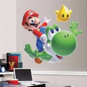 PENGUIN MARIO GIANT WALL DECAL; SUPER MARIO Wii