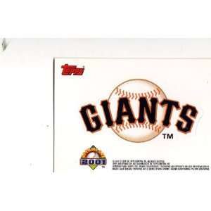 Topps Opening Day Sticker San Francisco Giants Sports Collectibles