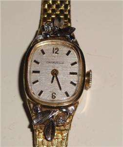 CARAVELLE AUTHENTIC DUAL DIAMOND 17 JEWEL WATCH GOLD & SILVER!!