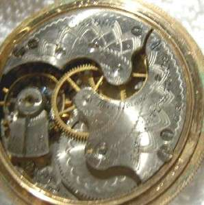 ANTIQUE ELGIN POCKET WATCH H/C DMK S/S M/D 6s