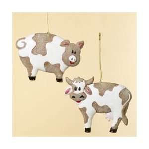 Club Pack of 12 Moo Cow and Oink Pig Farm Cookie Christmas
