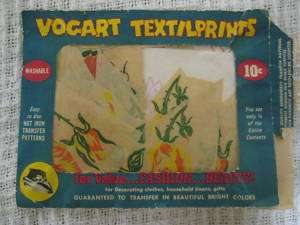 Vintage VOGART Textilprints Hot Iron Transfer Patterns