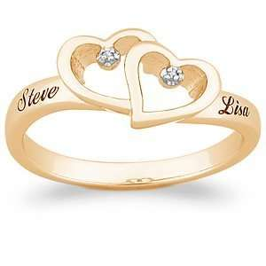 over Sterling Silver Couples Name Ring   Personalized Jewelry Jewelry