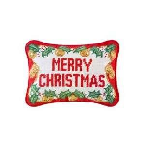 Needlepoint Merry Christmas Pillow