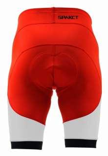 LIGHTNING Red Cycling Bike Shorts Mens Pant Padded Men