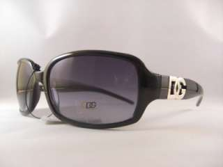 DG Eyewear Sunglasses NEW Women Celebrity Black Frame Black Tint 26518
