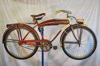 Vintage Firestone Cruiser skiptooth balloon tire bike bicycle red JC