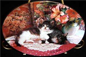 Tickled Pink Nancy Matthews Tabby Kitten Cat Plate
