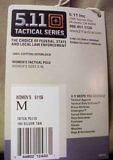 511 Tactical Polo Shirt Womens Ladies Tan Large New 844802124331