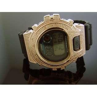 Casio G Shock 0.15CT Diamond Black Face Watch 6900 Rose Gold Casein