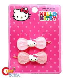 Sanrio Hello Kitty Hair Pin Set Accesories  Pink Ribbon