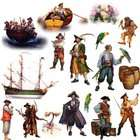 RoomMates RMK1041SCS Pirates Peel & Stick Wall Decals