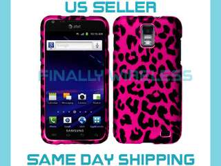 Pink Leopard Fur Print Hard Case Cover Samsung Galaxy SII S2 Skyrocket