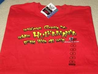 HULK HOGAN Hulkamania WWE Wrestling T Shirt MED New NWT