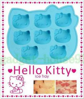 Ice Cube Tray Mold Jelly Silicone Cool 8 Hello kitty Maker Shaped