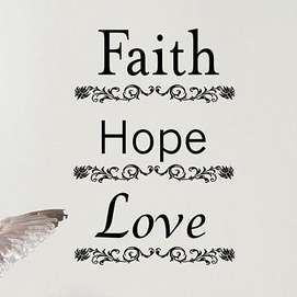 Faith Hope Love Doormat  Colormate For the Home Rugs Doormats