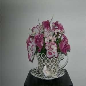 White/Mauve Rose Silk Floral Arrangement Everything Else