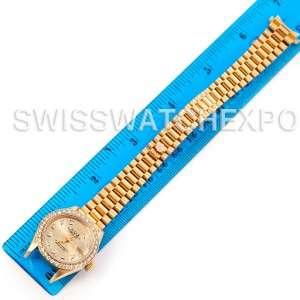 Rolex President Ladies 18k Yellow Gold Diamonds 69178