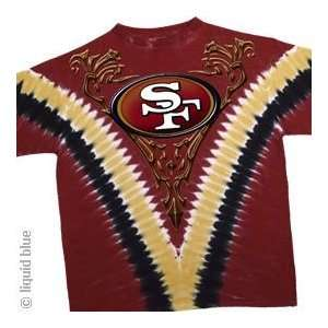San Francisco 49ers Logo/V Dye T Shirt: Sports & Outdoors
