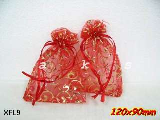 50pcs LARGE SIZE Swirl Organza wedding jewelry favor gift pouch bags 3