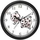 WatchBuddy Craps or Pair of White Dice Gambling or Casino Theme Wall