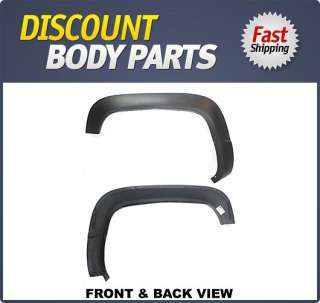 Left Front Fender Moulding New Chevy Silverado Pickup Black LH Driver