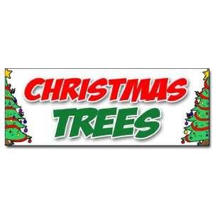 36 CHRISTMAS TREES DECAL sticker poinsettia wreath xmas