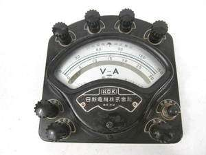 WWII Era Japanese Army IJA Volt Amp Meter   Used for Radio