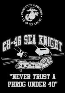 Marine Corps CH 46 Sea Knight helicopter M   XXL shirt
