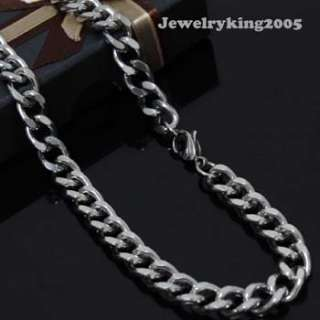 9MM MENS Stainless Steel Curb Chain Necklace 16   40
