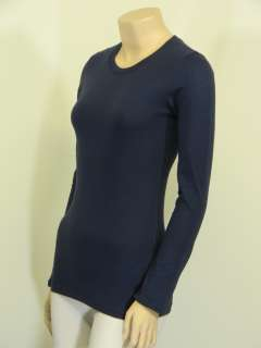 Basic CREW/ROUND NECK Long Sleeve Solid Top Cotton T Shirt S XL