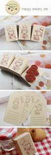 Decorative Stamps Rubber Stamp_Happy Bakery Set (3EA)