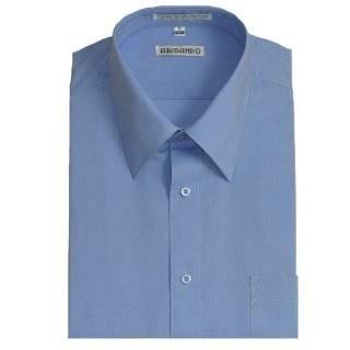 Mens Peacock Blue Dress Shirt with Convertible Cuffs