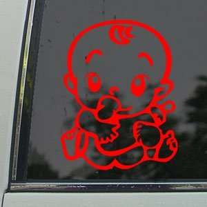 BABY ON BOARD IN CAR SAFETY Red Decal Window Red Sticker